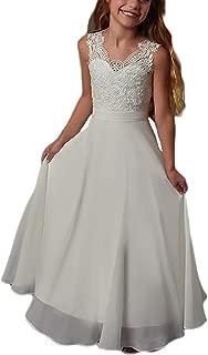 Beach Flower Girls Dresses Chiffon Lace Bohemian Wedding Dress for Kids First Communion Dress 79