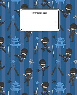 Composition Book: Ninja Pattern Composition Book Lined Wide Rule Notebook for Boys Kids Back to School Preschool Kindergarten and Elementary Grades K-2