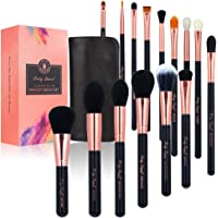 Party Queen 15Pcs Luxury Synthetic Wool Cosmetics Brush Kit