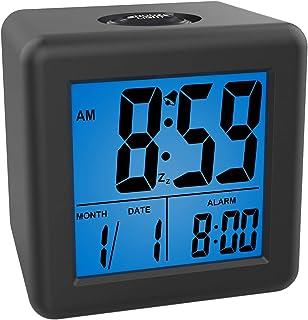 Plumeet Digital Alarm Clocks - Kids Clock with Snooze and Blue Nightlight - Easy Setting Travel Alarm Clocks Display Time,...