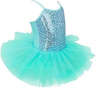 Beautiful Dance Skirt Kids Ballet Skirt Girls Dance Clothes Toddler Practice Clothes Costumes Suspenders Fashion (Color : Green, Size : Medium)