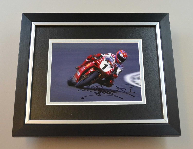 Carl Fogarty Signed 10x8 Photo Framed Superbikes Memorabilia Autograph Display