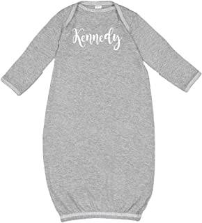 Mashed Clothing Kennedy - Personalized Name Baby Cotton Sleeper Gown