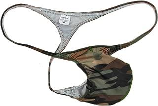 Jaxu Men's Camouflage Micro Thong Stretchy String Mini Bikini Guys T-Back Pants