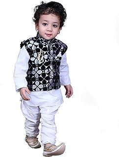 b64b893b5 Looks United Boys Festive & Party Ethnic Jacket, Kurta and Churidar ...