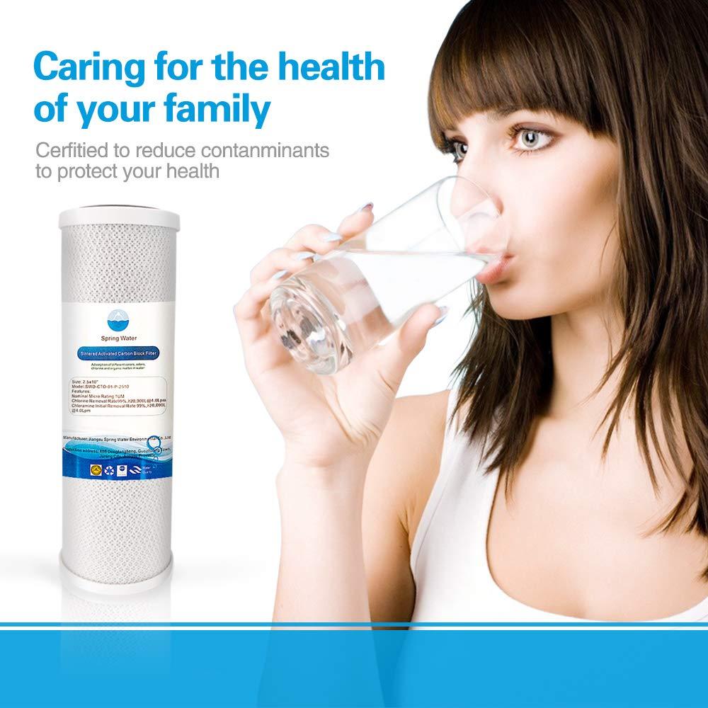 NewShun Cartucho de Filtro de Agua Universal de 1 micrón de 6,35 x ...