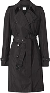BURBERRY Luxury Fashion Womens 8014016 Black Trench Coat | Season Permanent