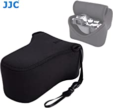 JJC Black Ultra Light Neoprene Camera Case for Fuji X-T30 X-T20 X-T10 +55-200mm Lens, Fuji XT30 XT20 X10 Case, Case for Canon EOS M5 M50 W/ 55-200mm Lens, Case for E-M5II E-M10II W/ 40-150mm Lens