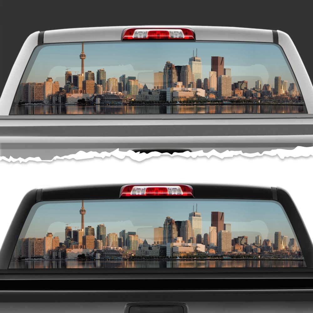 Simynola Coast Selling and selling Day City Perforated Truck 5 ☆ popular Car Accessories Wi Film