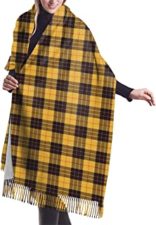 Macleod Of Lewis Ramsay Plaid Print Winter Cashmere Feel Women Scarf