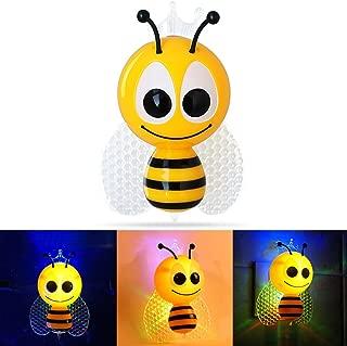 Luz led nocturna de enchufe con sensor diseño abeja