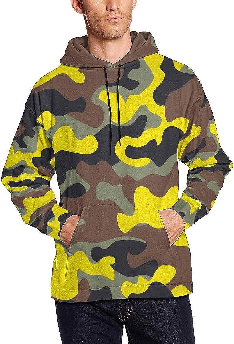 InterestPrint Farm Collection Men's Long-Sleeve Hoodie Sweatshirt with Kangaroo Pocket