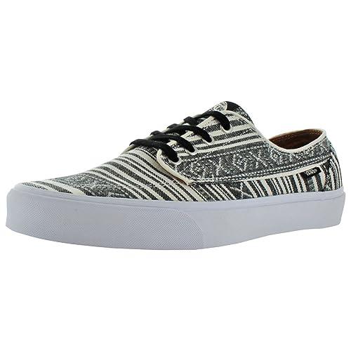e52690023e Vans Brigata Leather Plaid Estate Blue Men s Classic Skate Shoes