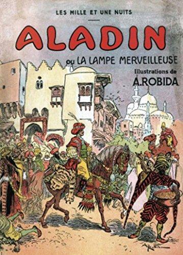 1art1 Albert Robida - Aladin Und Die Wunderlampe, 1001 Nacht, 2-Teilig Fototapete Poster-Tapete 250 x 180 cm