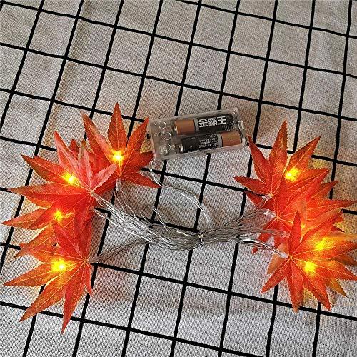 QULONG Luces LED de Cuerda de Hadas de Vid con Pilas 1.5M / 3M Guirnalda Colgante de Hojas Artificiales Cuerdas de luz de Cobre para Ramos de Bodas de Navidad Fiesta Regalo del día de la Madre