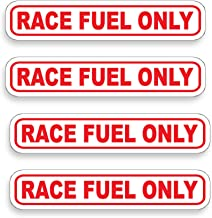 RACE FUEL ONLY Sticker Set of 4 Die Cut Vinyl Decal label for Gas Tank Door Container Jug