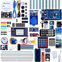 The MEGA2560 complete starter kit with more than 200pcs components, premium quality and 100% Compatible with Arduino IDE Free pdf tutorial in the cd (more than 35 lessons) Lcd1602 module and gy-521 sensor module with pin header ( no need to solder by...