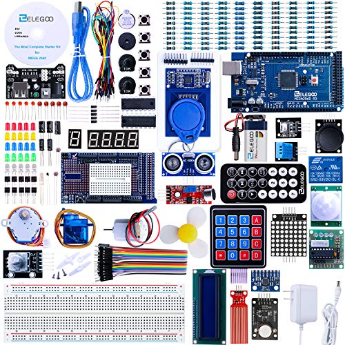 top 10 arduino starter kits ELEGOO Mega 2560 The most comprehensive starter kit with project study instructions, compatible with….