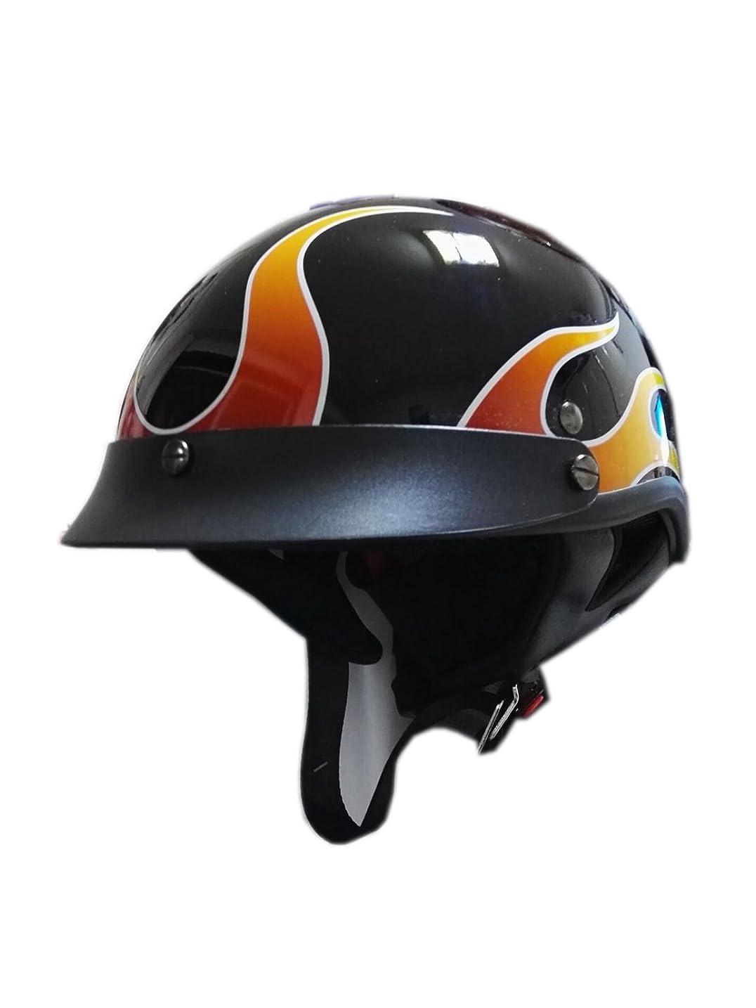 わかりやすい政治家コンチネンタルX.N.S(希望) ハーフヘルメット 夏用 バイクヘ ルメット 半帽 ヘルメット (M)
