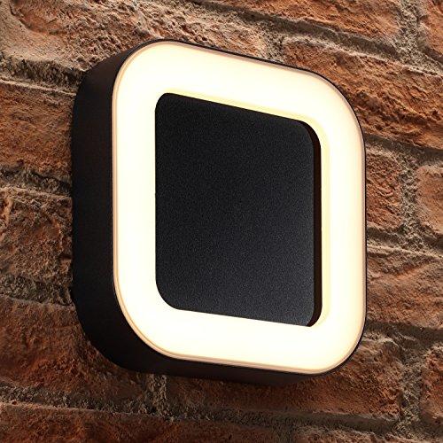 Auraglow 13 W intégré blanc chaud jardin extérieur moderne DEL Mur-Lumière Carré