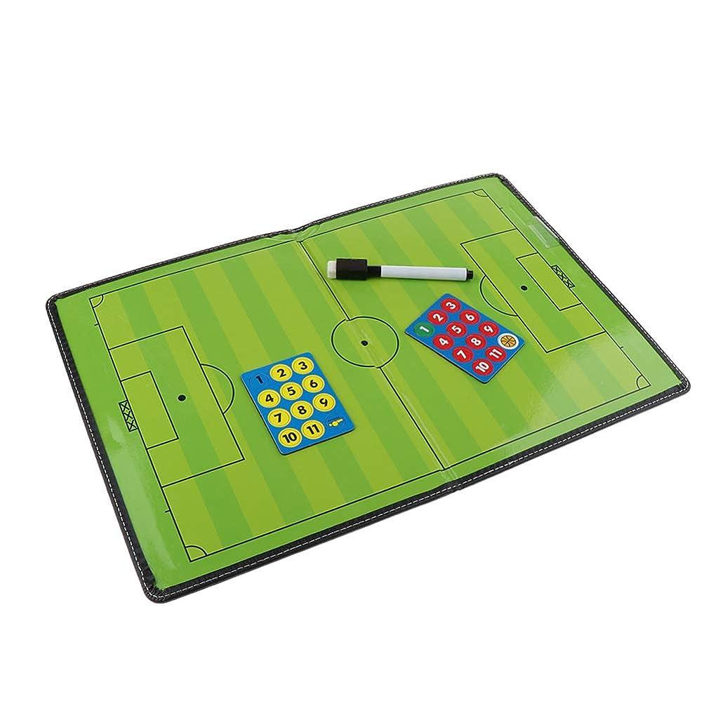 マングル献身時代遅れgazechimp サッカーボード コーチ戦略指導 作戦盤 作戦板 マグネット ペン付きマジックタイプ 人工皮革軽量