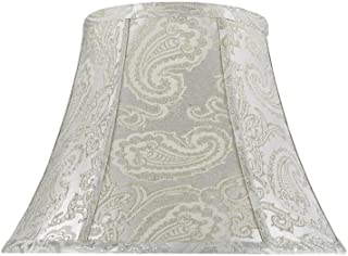 Aspen Creative 30095 Transitional Bell Shape Spider Construction Lamp Shade in Classic Silver, 13