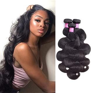 Original Queen Brazilian Body Wave 100% Unprocessed Virgin Human Hair 8A Grade 3 Bundles Weaves Natural Color 10 12 14 Inches