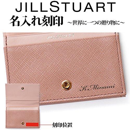 [名入れ可][ジルスチュアート]JILLSTUARTレザー名刺入れカードケースプリズムミニリボンショップバッグ付き(名入れあり,ピンク)