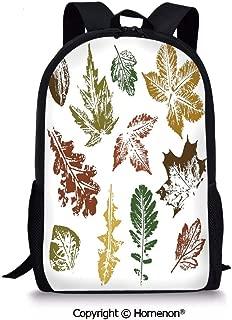 Burgundy Brown and Forest Green,design Boys Girls School Bag Rucksack Durable Bo