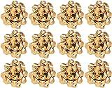 The Gift Wrap Company Decorative Confetti Bows, Large, Gold Metallic