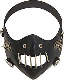 Steampunk Mask Leather Half Face Masquerade Mouth Muffle
