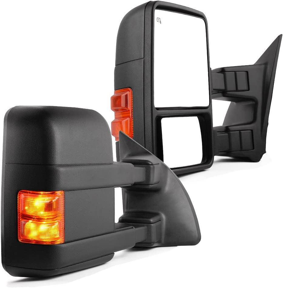 YITAMOTOR Towing Mirrors compatible for 1999-2007 Ford F250 F350
