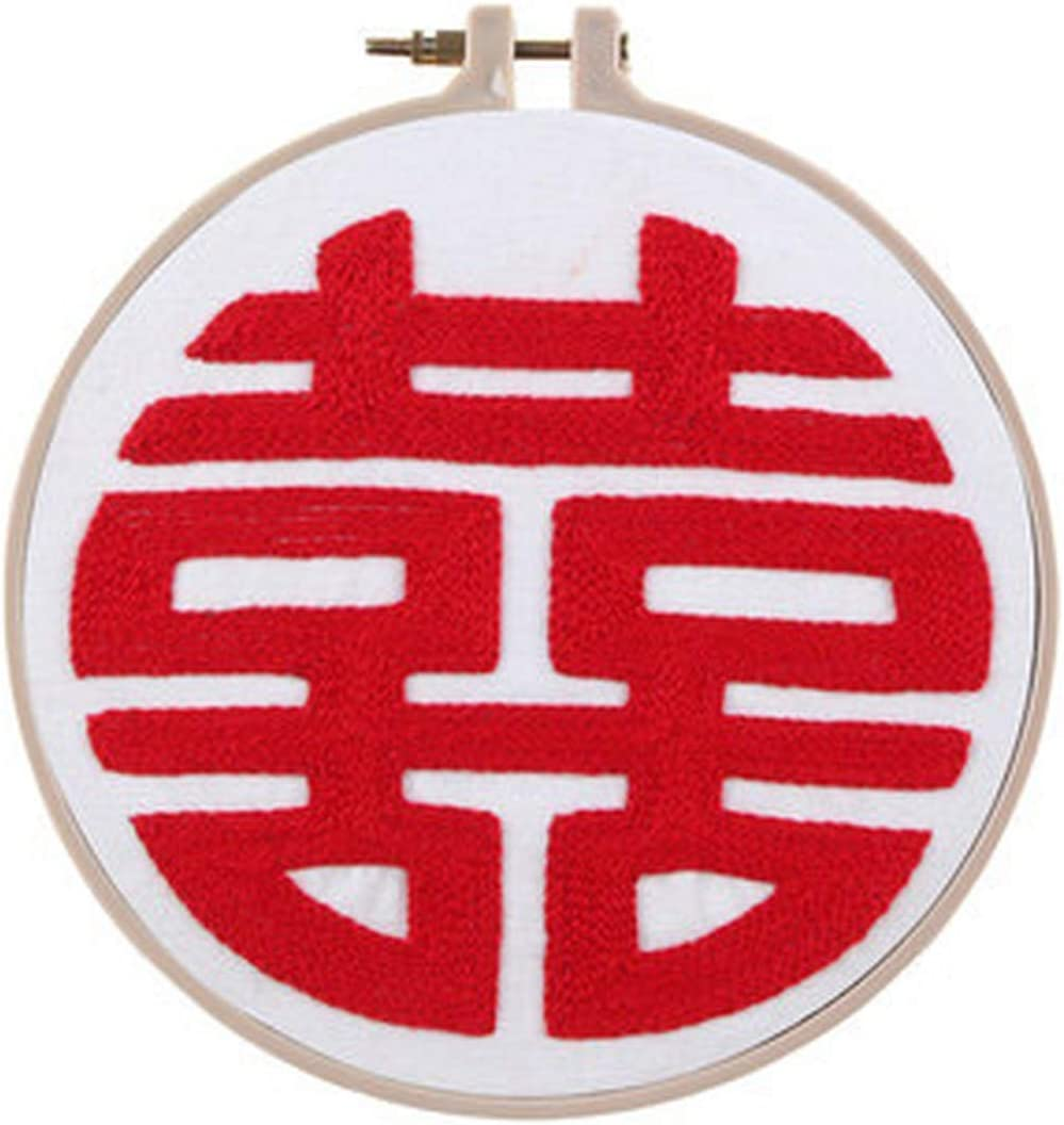 Max 88% OFF Chinese Words DIY Embroidery Kit unisex Stit Cross Needlework with Hoop