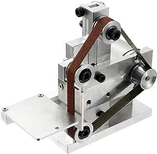 CNCEST Electric Belt Sander Grinder Mini DIY Polishing Grinding Machine Multi-Function Abrasive Micro Bench Sander Belt Desktop Sharpener Tools AC110-240V
