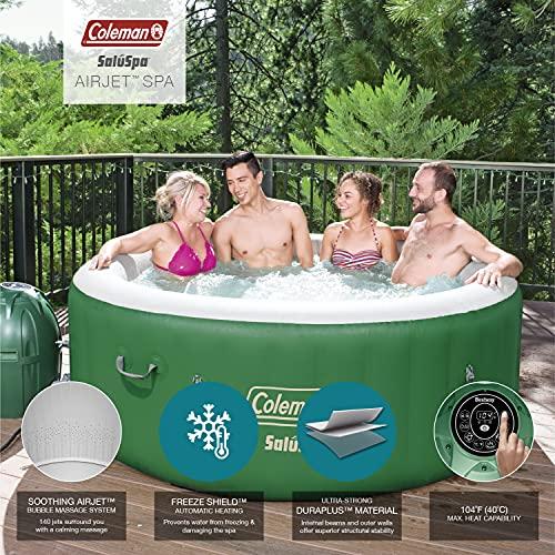 Coleman 90363E SaluSpa Inflatable Hot Tub Spa, Pack of 1, Green