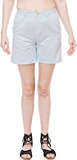 KOTTY Women's Cotton solid shorts