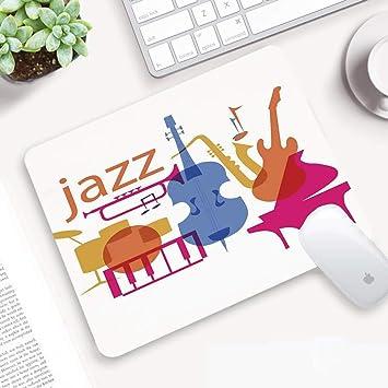 H5 Alfombrilla Ratón 320x250 mm,Decoración de música de Jazz ...