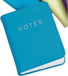 Teal Leather 10cm Notebook by Dulwich Designs