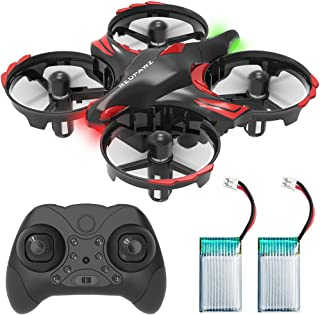 REDPAWZ Mini Drone, 2.4G 6-Axis Gyro RTF RC Nano Quadcopter Best Drone for Kids & Beginners RC Helicopter Plane,Infrared Sensing, Altitude Hold, Shake & Throw to Fly, Boys Girls Gift Toys, 2Pc Battery