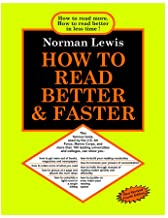 HOW TO READ BETTER & FASTER NEW FOURTH EDITION (2020) EXCLUSIVE GOYAL PUBLISHERS