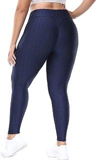 Hanna Nikole Women's High Waist Yoga Pants Plus Size Butt Lifting Anti Cellulite Leggings Tight