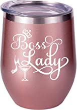 Boss Gifts For Women, Boss Lady Gifts, Funny Girl Boss Gifts, Best Christmas Birthday Gifts Wine Glass