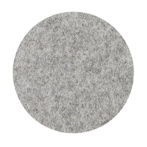 Metz Textil & Design Componibili Filzauflage ø 30,2 cm, h 0,5 cm - Silbergrau