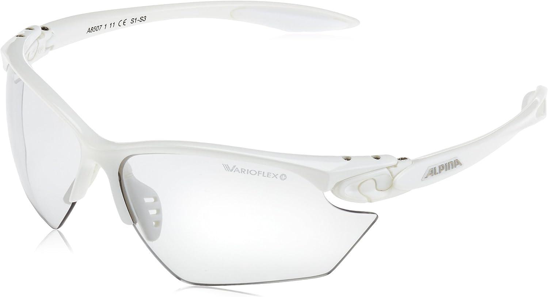 Alpina Performance Twist Four S VL - Gafas de sol para deportes al aire libre, talla única, color blanco
