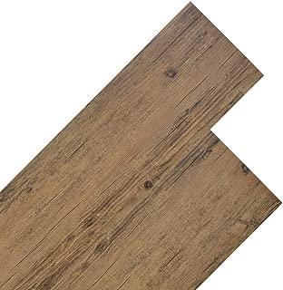 vidaXL Lamas Suelo PVC 5,26 m² 2mm Marrón Nogal Tabla