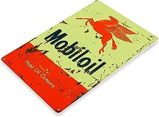 Tinworld TIN Sign Mobiloil Company Gas Mobil Oil Metal Decor Art Garage Shop Store A130
