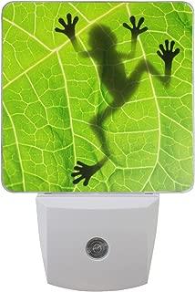 JOYPRINT Led Night Light Summer Animal Frog Shadow On The Leaf, Auto Senor Dusk to Dawn Night Light Plug in for Kids Baby Girls Boys Adults Room