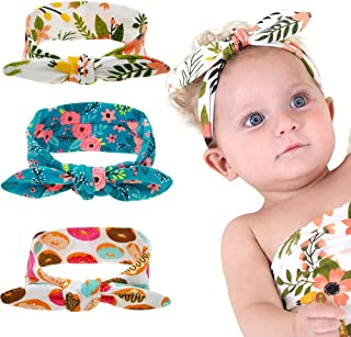 BZCSHOW Baby Headbands Bows Headwraps for Girl, Baby Girl Newborn Toddler Child Hair Accessories, Flower Print Baby Swaddl...