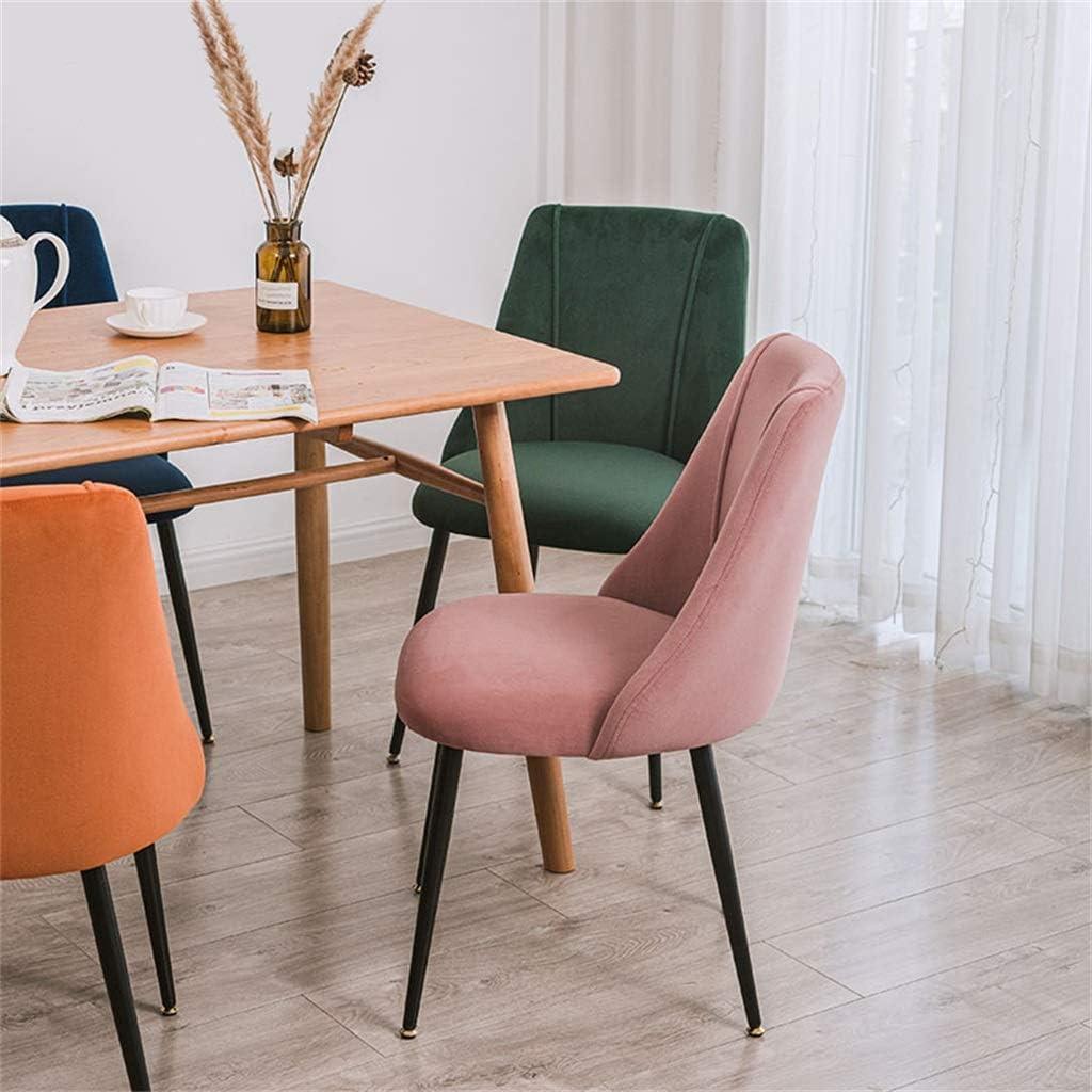 CGF-Chaises Chaise de Salle à Manger en 5 Couleurs, Coussin Noir en Daim et Dossier Ergonomique Chaise de Salle à Manger Moderne (Bleu, Vert, Gris, Orange, Rose) Gray