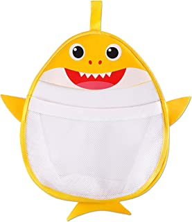 Genovega Bath Toys Organizer Storage Holder - Baby Shark Quick Dry Mesh Bag for Bathtub for Toddlers 1 2 3 4 5 Year Old Ba...